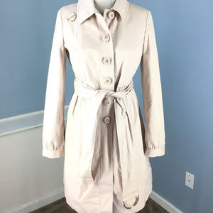 Elevenses Anthropologie S 4 Blush Pink Trench coat